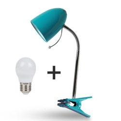 Aigostar Asztali lámpa kék csiptetős 6W-os Természetes fehér fényű izzóval