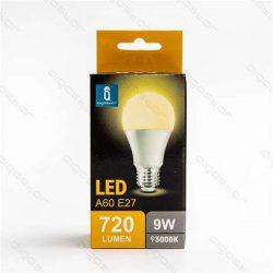 Aigostar LED Gömb izzó A60 E27 9W Meleg fehér 280° dobozos