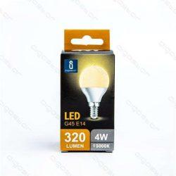 Aigostar LED Gömb izzó G45 E14 4W Meleg fehér 230° dobozos
