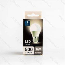 Aigostar LED Gömb izzó G45 E27 6W Hideg fehér 230° dobozos