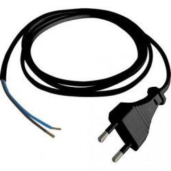 Hálózati fekete kábel 2 méter, 2x0,75 mm2