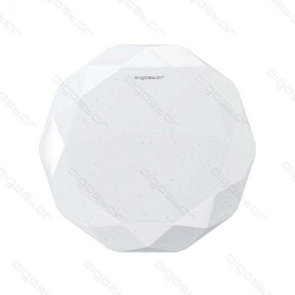 Aigostar LEDES lámpa kerek 12W Meleg fehér Gyémánt hatású kerettel