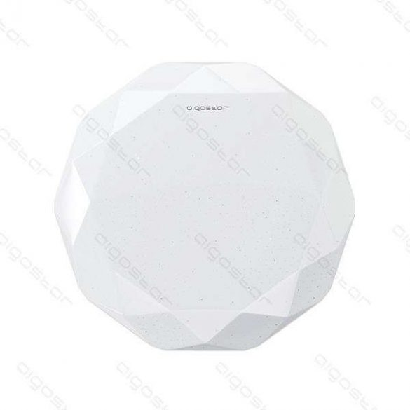 Aigostar LEDES lámpa kerek 12W Természetes fehér Gyémánt hatású kerettel