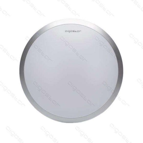 Aigostar LEDES lámpa kerek 18W Meleg fehér Ezüst kerettel