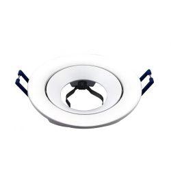 Spot lámpatest kerek RICO fehér dönthető (furat: 75mm)