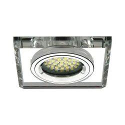 Spot lámpatest négyszögletes RIA fehér fix (furat: 60mm)
