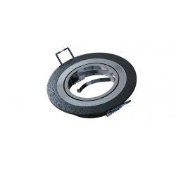Spot lámpatest kerek MULO festett fekete dönthető (furat: 70mm)
