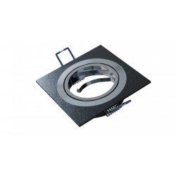 Spot lámpatest négyszögletes GABI festett fekete dönthető (furat: 70mm)