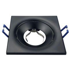 Spot lámpatest négyszögletes TORN fekete dönthető (furat: 75mm)