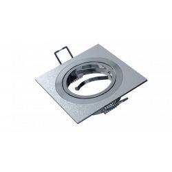 Spot lámpatest négyszögletes GABI festett ezüst dönthető (furat: 70mm)