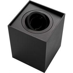 Falon kívüli spot lámpatest BERGEN állítható négyszögeletes fekete GU10