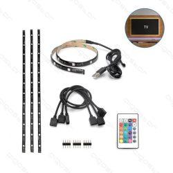Aigostar Led TV háttérvilágítás 4x0,5m USB csatlakozóval és 24 gombos távirányítóval