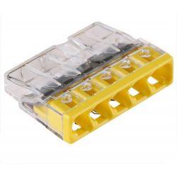 WAGO vezetékösszekötő 5P, 0,5-2,5 mm2 tömör vezetékhez.