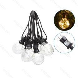 Aigostar dekor gömb átlátszó fényfüzér kültéri 8m