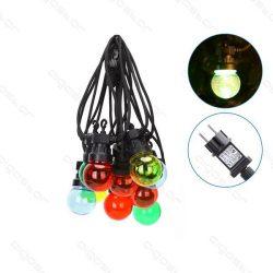 Aigostar dekor gömb színes fényfüzér kültéri 8m