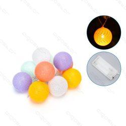 Aigostar dekor gömb színes fényfüzér szövet borítással 2m