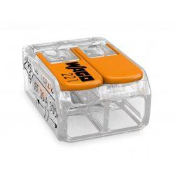 WAGO oldható vezetékösszekötő 2P, 02-4 mm2, tömör és sodrott vezetékhez.