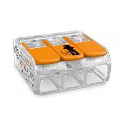 WAGO oldható vezetékösszekötő 3P, 0,2-4 mm2, tömör és sodrott vezetékhez