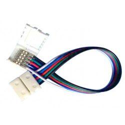 RGBW led szalag toldó pattintós, 3156