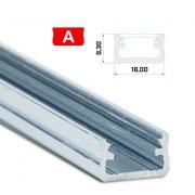 LED Alumínium Profil Standard [A] Natúr 1 méter