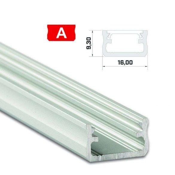 LED Alumínium Profil Standard [A] Ezüst 2 méter