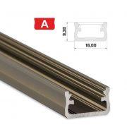 LED Alumínium Profil Standard [A] Bronz 2 méter