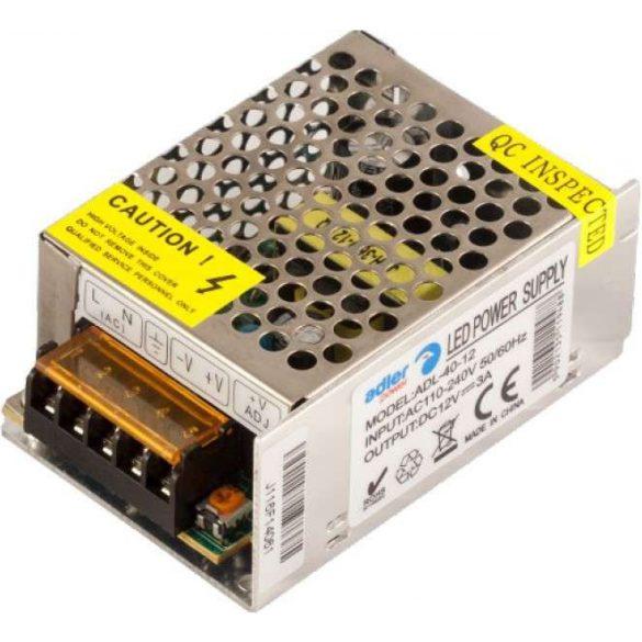 ADLER Led tápegység ADL-40-12 40W 12V fémházas