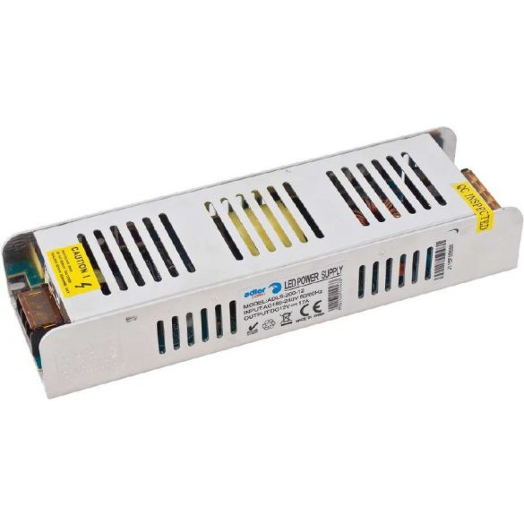 ADLER Led tápegység ADLS-200-12 200W 12Vslim fémházas