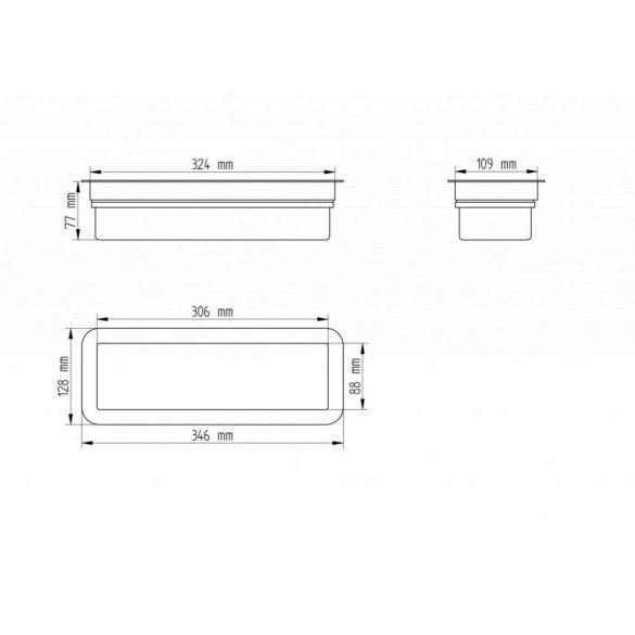 Mennyezetbe süllyeszthető Címezhető Biztonsági lámpatest 3Watt CL-813/slave/MB