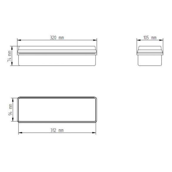Oldalfalra szerelhető Címezhető Biztonsági lámpatest 6Watt CL-616/slave/MB