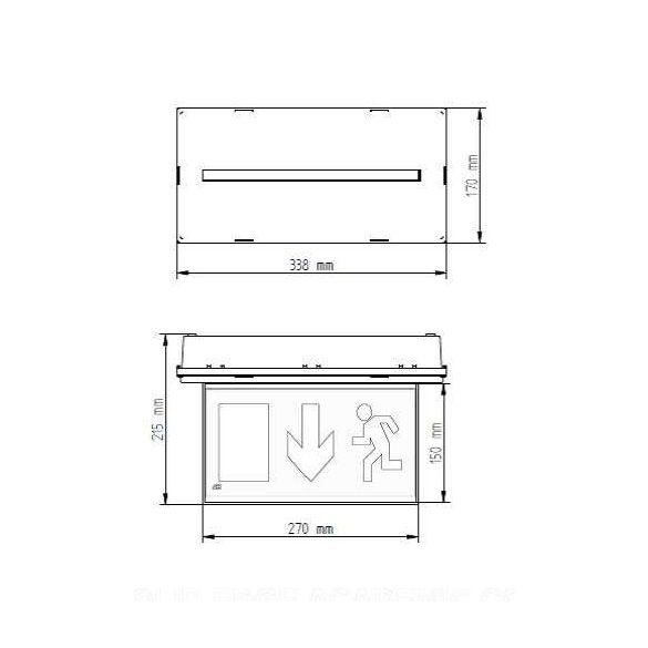 Kültéri Címezhető süllyesztett kijáratmutató CL-6014/slave/MB