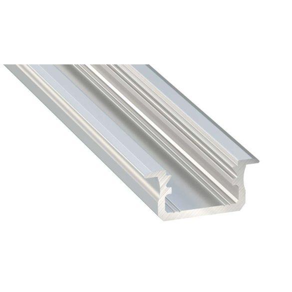 LED Alumínium Profil Beépíthető [B] Natúr 2 méter