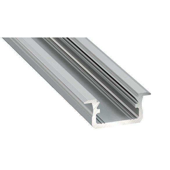 LED Alumínium Profil Beépíthető [B] Ezüst 2 méter