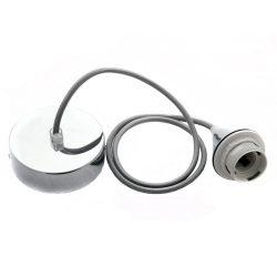 NEDES Mennyezeti rózsa és függeszték gyűrűvel 1m Ezüst
