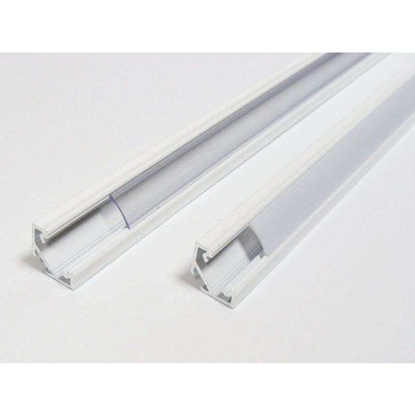 Led profil led szalagokhoz Sarokba rögzíthető ezüst 1 méteres alumínium