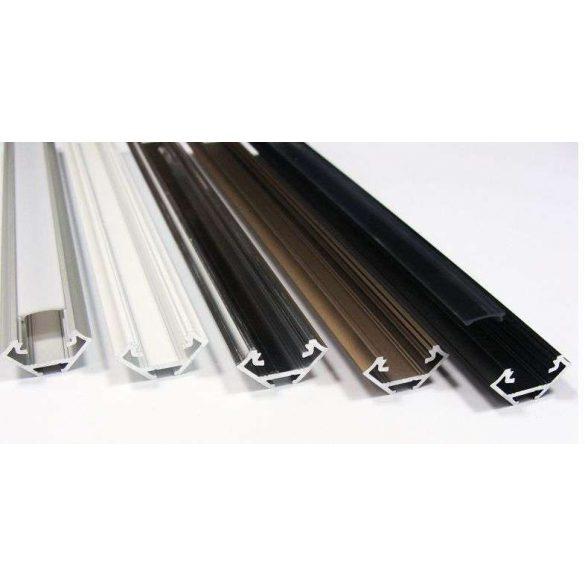LED Alumínium Profil Sarokba rögzíthető [C] Fehér 1 méter
