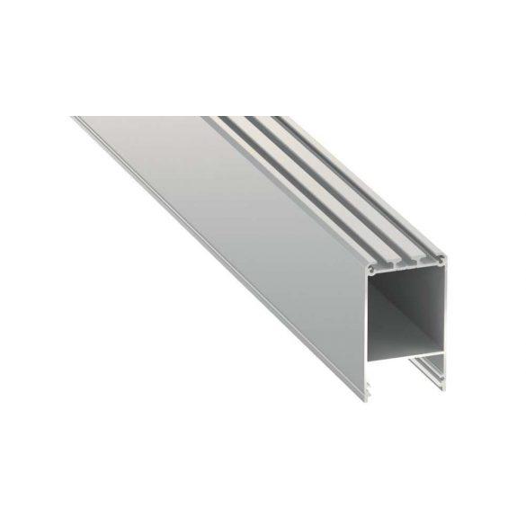 Led profil led szalagokhoz CLARO Ezüst 2 méteres alumínium