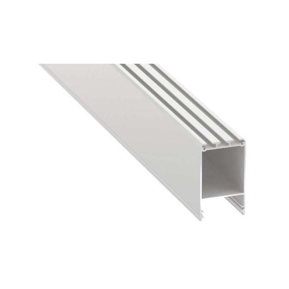 Led profil led szalagokhoz CLARO Fehér 2 méteres alumínium
