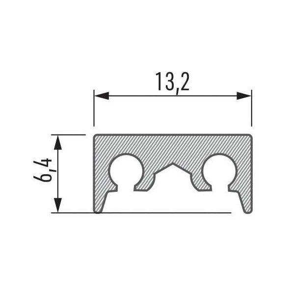 LED Alumínium Profil COSMO Natúr 1 méter