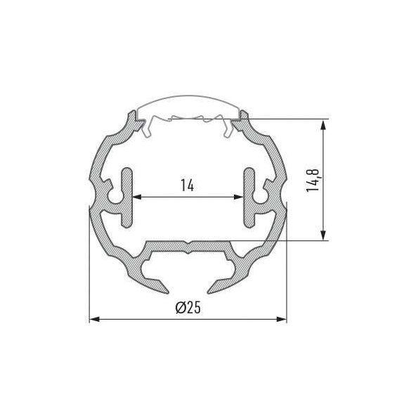 LED Alumínium Profil COSMO Ezüst 1 méter