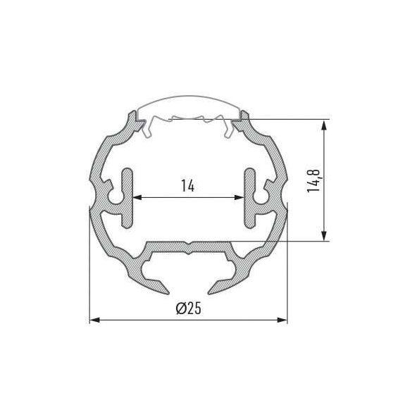 LED Alumínium Profil COSMO Fekete 1 méter