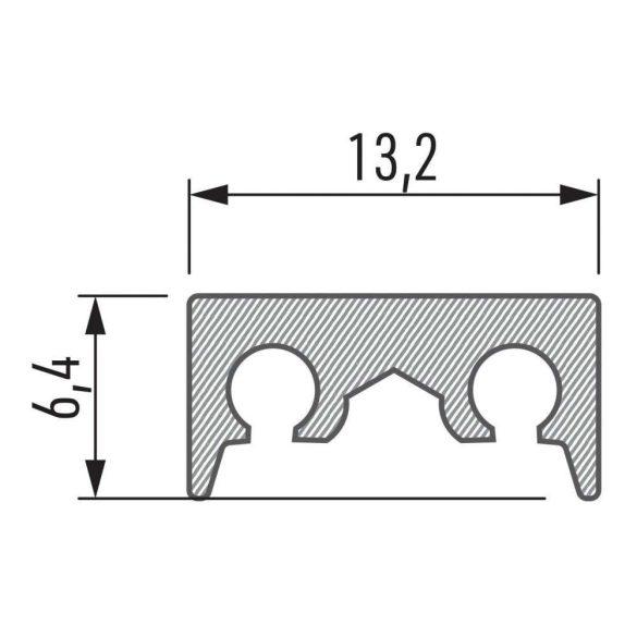 Alumínium tartószerkezet COSMO M1 1 méter Ezüst
