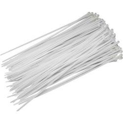 Fehér nylon kábelkötegelő 200X3,6mm 100db/csomag