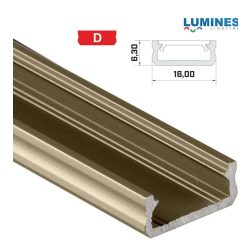 Led profil led szalagokhoz általános U alakú bronz 1 méteres alumínium