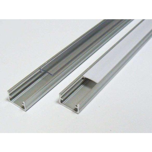 Led profil led szalagokhoz általános U alakú ezüst 2 méteres alumínium