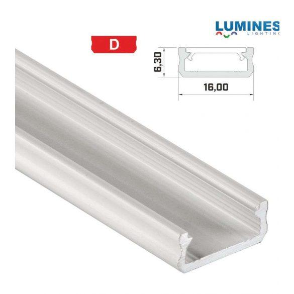 LED Alumínium Profil Általános U alakú [D] Fehér 2 méter