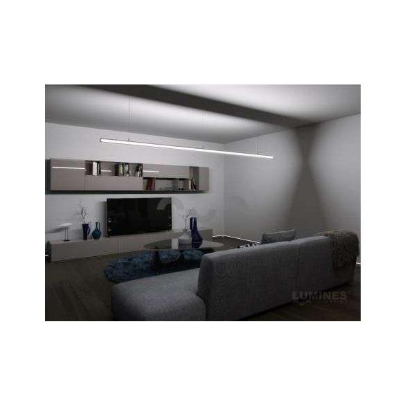 LED Alumínium Profil DOPIO Ezüst 1 méter