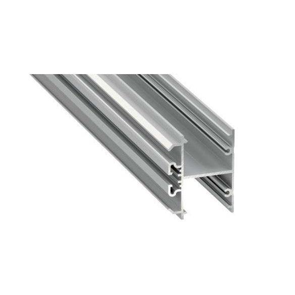 LED Alumínium Profil DOPIO Ezüst 2 méter