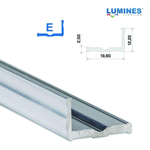 LED Alumínium Profil Széles L alakú [E] Natúr 2 méter