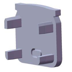 Végzáró ECO Beépíthető mély Profilhoz Fekete színű